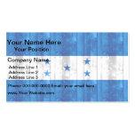 Wooden Honduran Flag Business Card