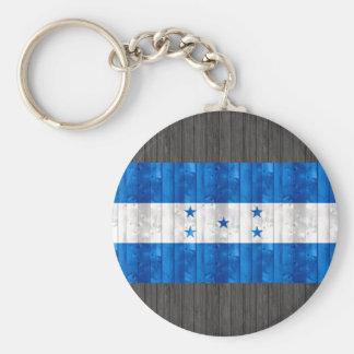 Wooden Honduran Flag Key Chain