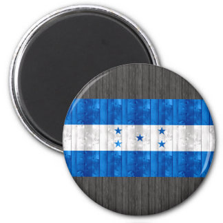 Wooden Honduran Flag Refrigerator Magnet