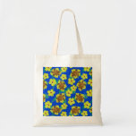 Wooden Honu And Hibiscus Flowers Canvas Bag
