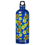 Wooden Honu And Hibiscus Flowers SIGG Traveler 1.0L Water Bottle