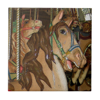 Wooden Horse Ceramic Tile