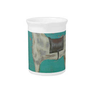 Wooden horse drink pitchers