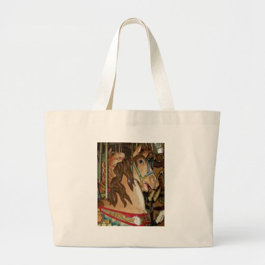 wooden Horse Large Tote Bag