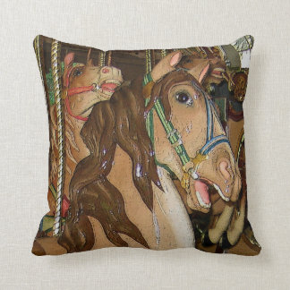 Wooden Horse Throw Pillow