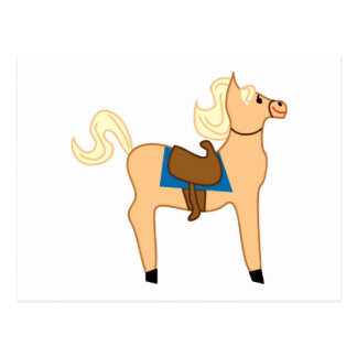 Wooden Horse Toy Post Card