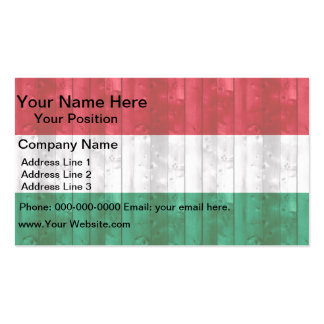 Wooden Hungarian Flag Business Card
