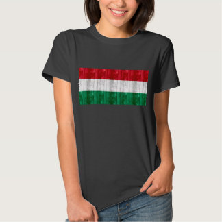 Wooden Hungarian Flag T Shirt