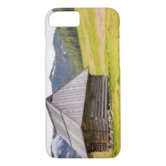 Wooden Hut In The Mountains, Landscape, Nature iPhone 7 Case