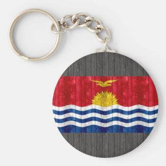 Wooden I-Kiribati Flag Keychains