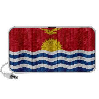 Wooden I-Kiribati Flag Laptop Speaker