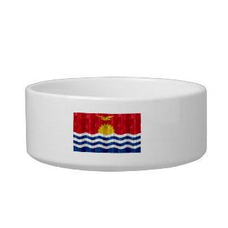 Wooden I-Kiribati Flag Pet Bowls