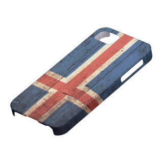 Wooden Iceland Flag iPhone 5 Case