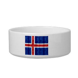 Wooden Icelander Flag Cat Water Bowls