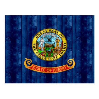 Wooden Idahoan Flag Postcard
