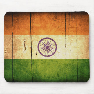 Wooden Indian Flag Mouse Pad