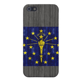 Wooden Indianan Flag Cases For iPhone 5