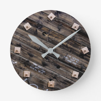 Wooden Industrial Wire Spool Round Clock