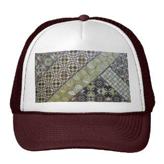 Wooden inlay work trucker hat