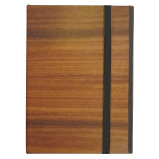 wooden iPad folio case