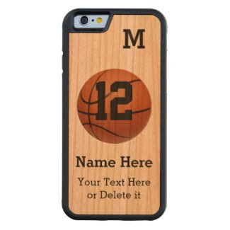 Wooden iPhone 6 Cases Basketball with 4 TEXT BOXES