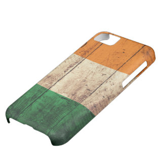 Wooden Ireland Flag Case For iPhone 5C