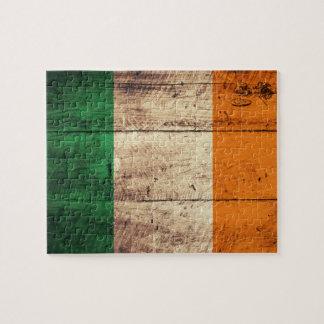 Wooden Ireland Flag Jigsaw Puzzle