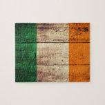 Wooden Ireland Flag Puzzles