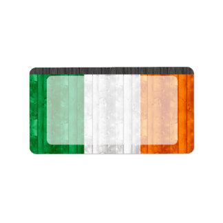 Wooden Irish Flag Custom Address Label