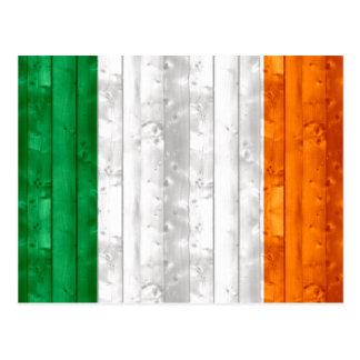 Wooden Irish Flag Postcard