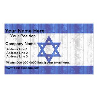 Wooden Israeli Flag Business Card