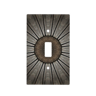 """""""Wooden It Be Nice"""" Rustic Industrial Mandala Light Switch Cover"""