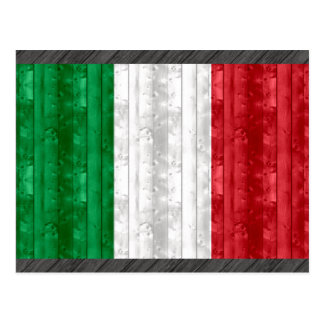 Wooden Italian Flag Postcard