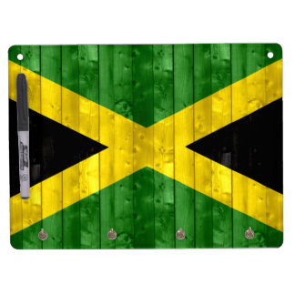 Wooden Jamaican Flag Dry Erase Whiteboards