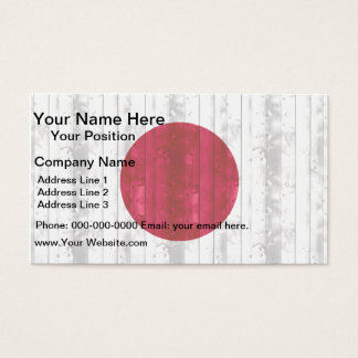 Wooden Japanese Flag Business Card