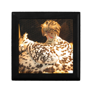 Wooden Jewelry Box with German Spitzhauben hen
