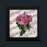 """Wooden Jewelry Keepsake Box with musical roses.<br><div class=""""desc"""">Wooden Jewelry Keepsake Box with musical roses.</div>"""