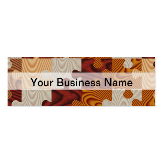 Wooden jigsaw puzzle business cards