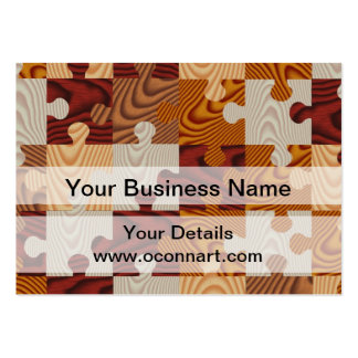 Wooden jigsaw puzzle business card template