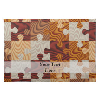 Wooden jigsaw puzzle cloth placemat