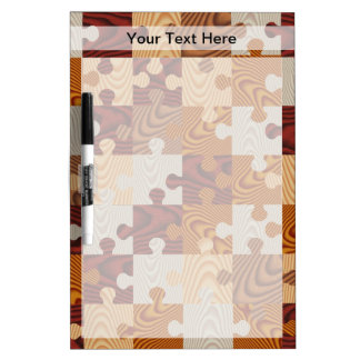 Wooden jigsaw puzzle Dry-Erase board