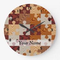 Wooden jigsaw puzzle large clock