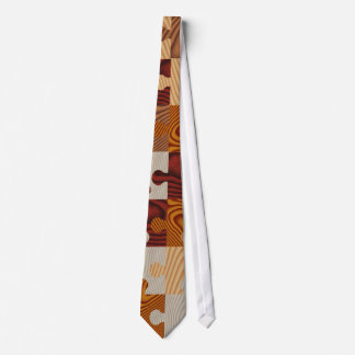 Wooden jigsaw puzzle tie