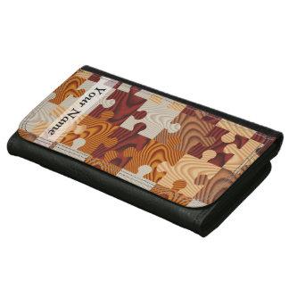 Wooden jigsaw puzzle women's wallet