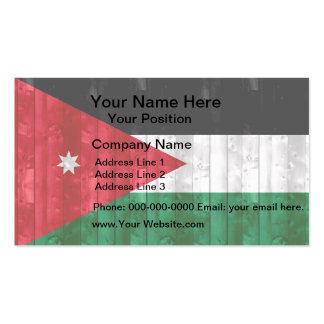 Wooden Jordanian Flag Business Card