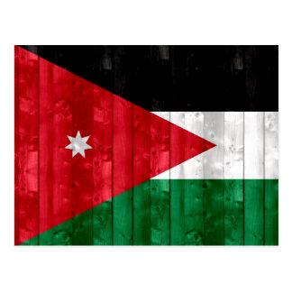 Wooden Jordanian Flag Postcard