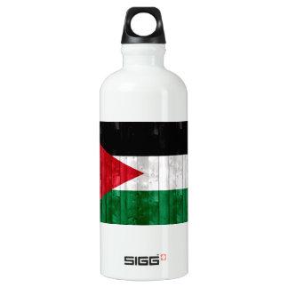 Wooden Jordanian Flag Water Bottle