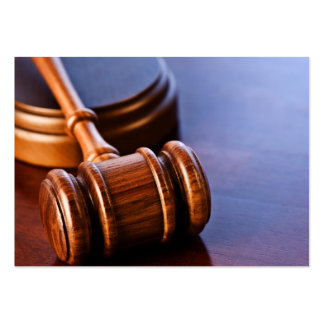 Wooden Judge's Gavel Large Business Cards (Pack Of 100)