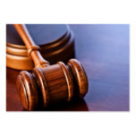 Wooden Judge's Gavel Business Card Template
