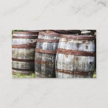 Wooden Keg Barrels Business Card